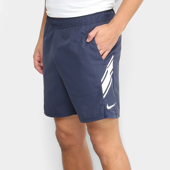 Short Nike Dry 7IN Masculino - Marinho+Branco