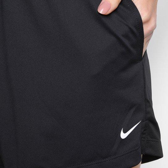 Short Nike Dry Attack Feminino - Preto+Branco