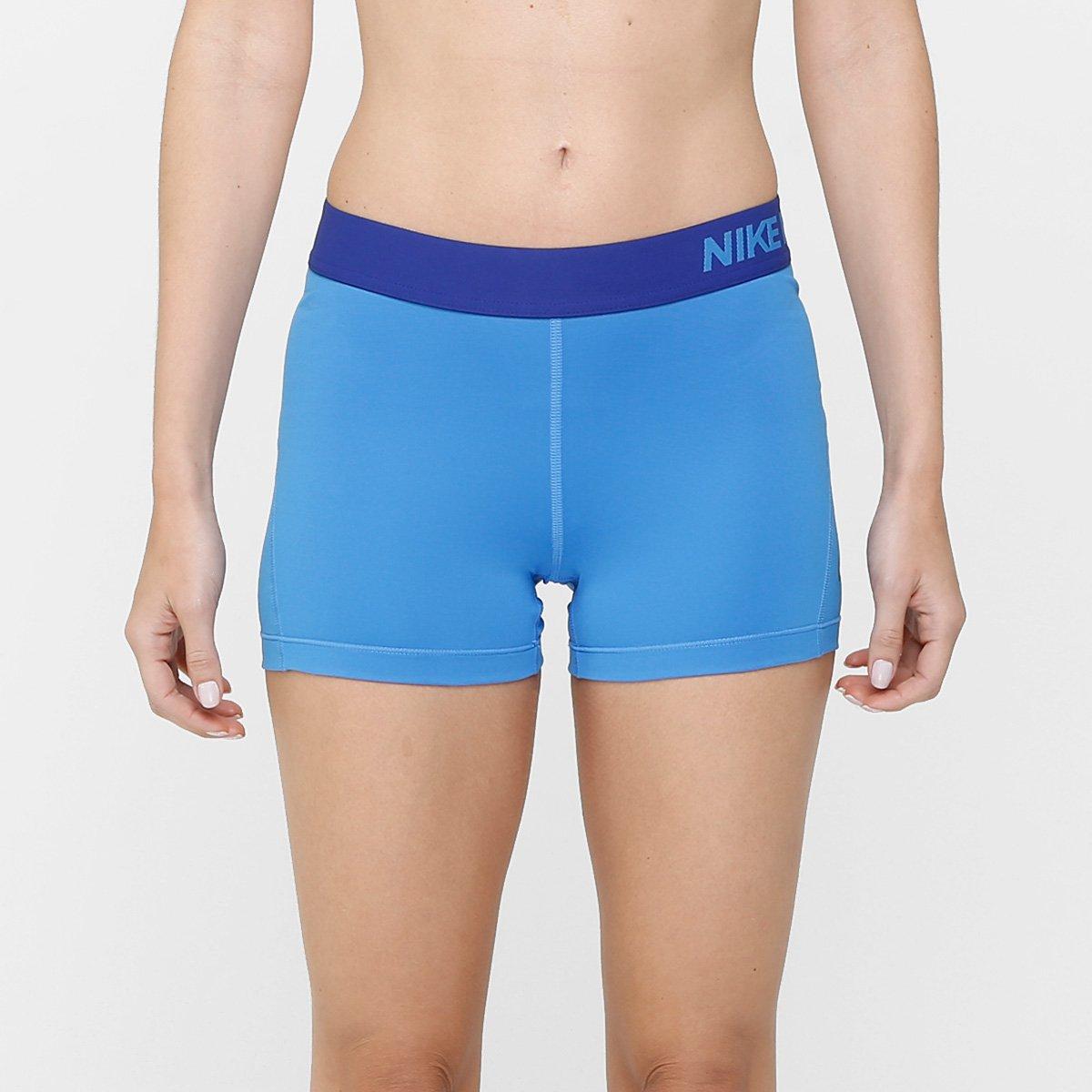 Short Nike Pro Cool 3 Pol Feminino Azul
