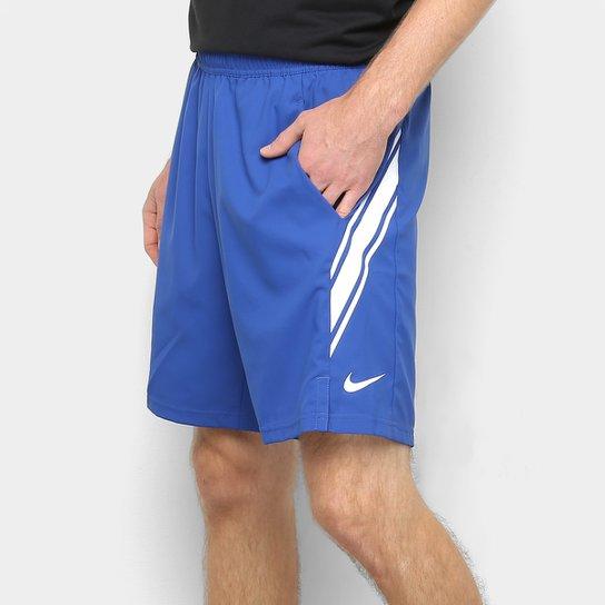 "Short NikeCourt Dri-Fit 9"" Masculino - Azul"