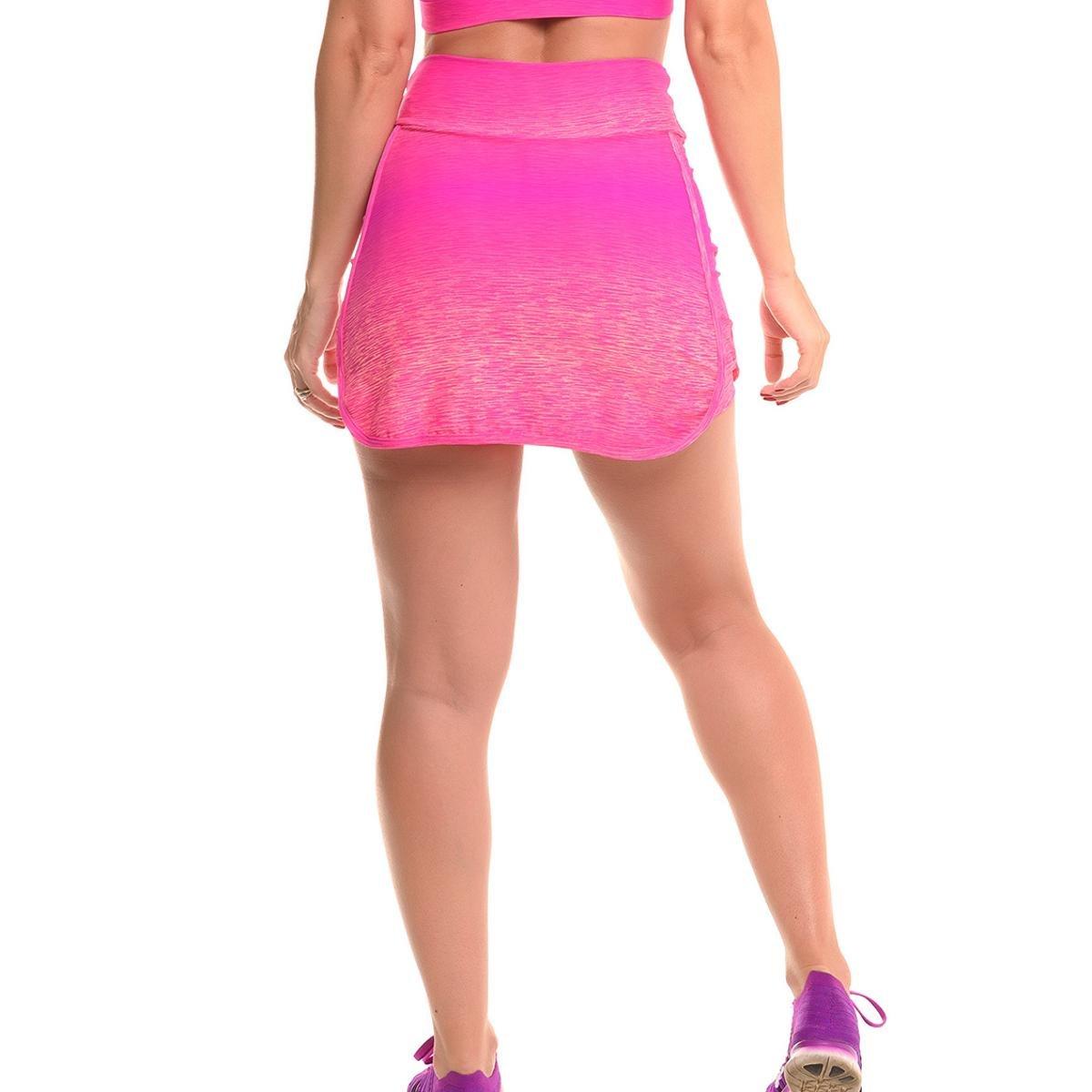 Proteção Feminino Rosa Solar Com Mix Fun Saia Fitness Short Sandy Ea8qqt