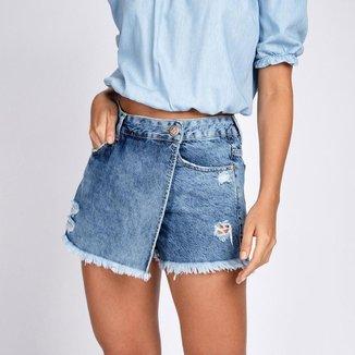 Short Saia Jeans Destroyed