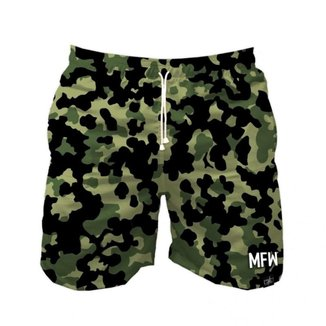 Short Tactel Maromba Fight Wear Camuflado Com Bolsos Masculino