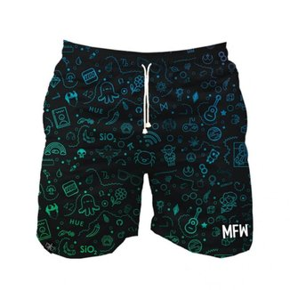 Short Tactel Maromba Fight Wear  Geek Com Bolsos Masculino