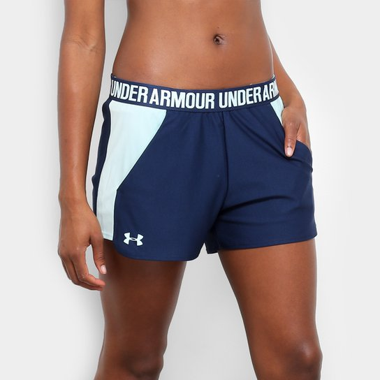 Short Under Armour New Play Up Feminino - Azul Claro