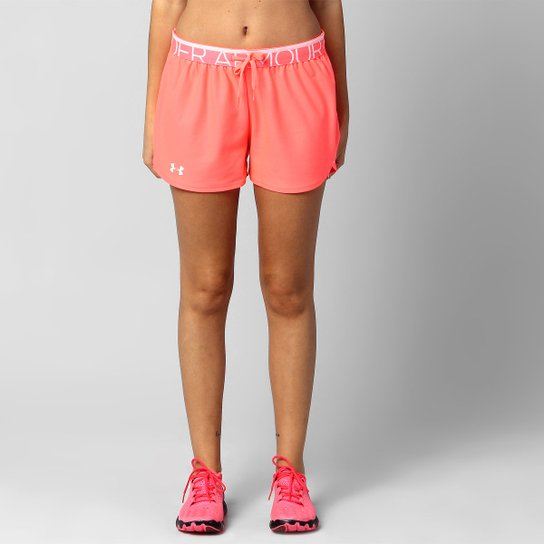 Short Under Armour Play Up - Rosa+Branco