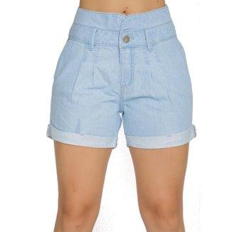 Short Zayon Jeans Alfaiataria Azul