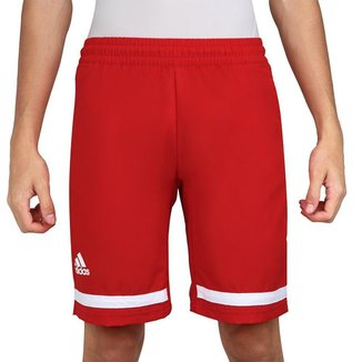 Shorts Adidas Club Vermelho e Branco