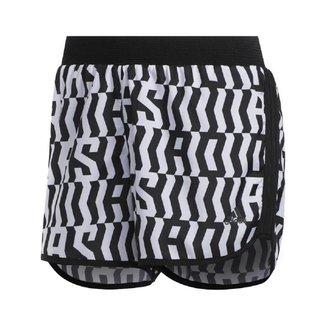Shorts Adidas Marathon 20 Feminino Preto e Branco