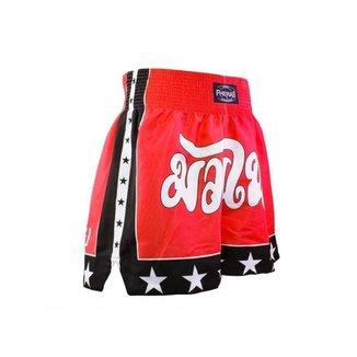 Shorts Boxe Muay Thai Fheras Training New Estrela Vermelha