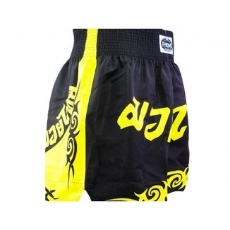Shorts Boxe Muay Thai Fheras Training New Tribal Preto