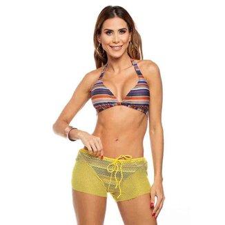 Shorts de Praia em Tela Maré Brasil Feminino