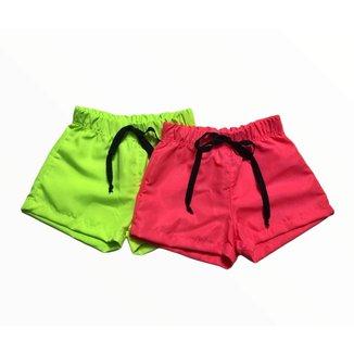Shorts de Tactel Neon - Tendência Verão 2022
