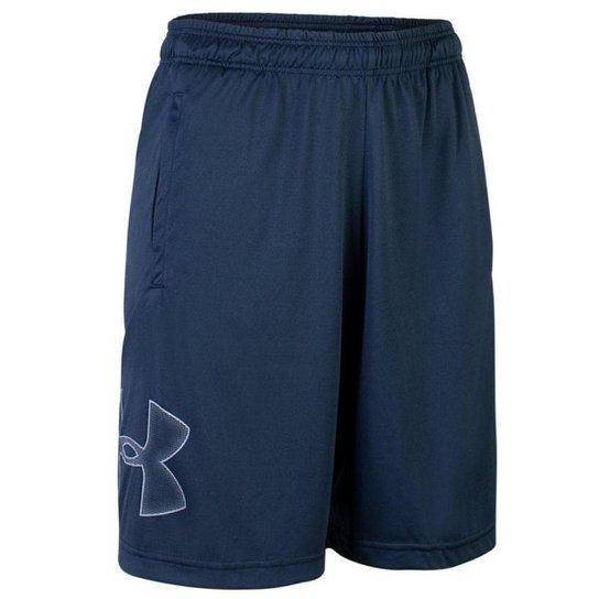 Shorts de Treino Masculino Under Armour Tech Graphic - Azul Escuro