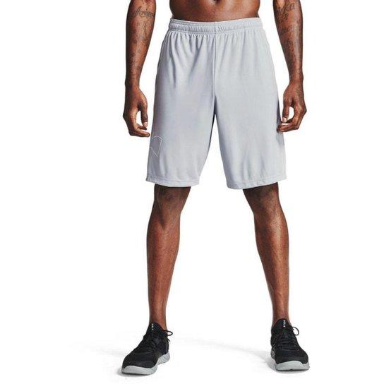 Shorts de Treino Under Armour Tech Logo Masculino - Off White