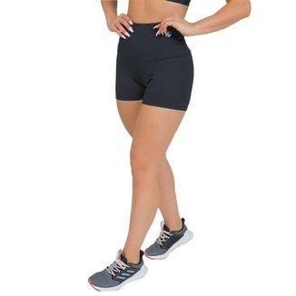 Shorts Feminino Fitness Cós Alto Preto