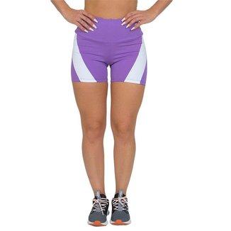 Shorts Feminino Fitness Elegance Lilás