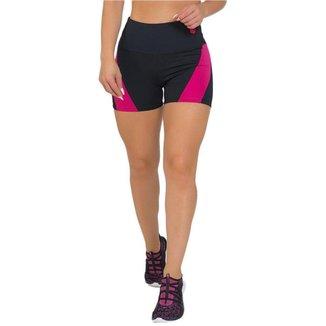 Shorts Feminino Fitness Elegance Preto