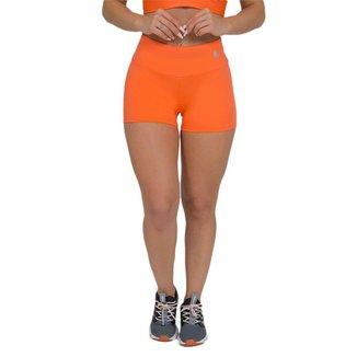 Shorts Feminino Fitness Liso Laranja