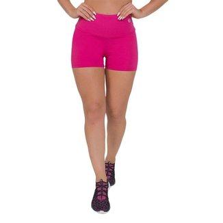 Shorts Feminino Fitness Liso Rosa