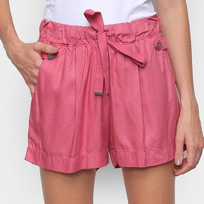 Shorts Hering Amarracao Botao Feminino
