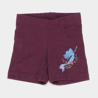 Shorts Infantil Disney Ariel Feminino