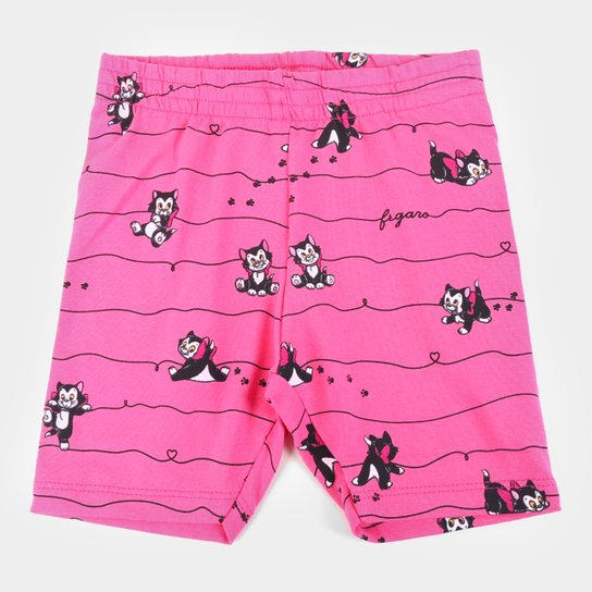 Shorts Infantil Disney Fígaro - Pink