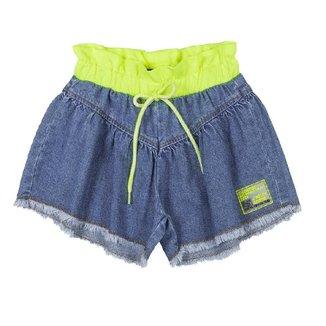 Shorts Infantil Jeans E Neon Animê