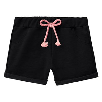 Shorts Infantil Milon Moletom Básico Feminina