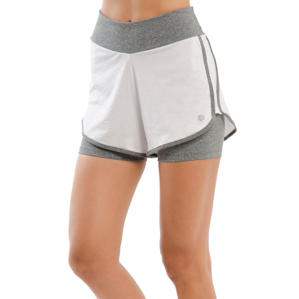 Shorts Influence Branco e Cinza - Compre Agora   Netshoes 2e2373fe4c