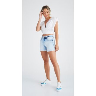 Shorts Jeans Express Meia Coxa Molina