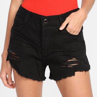 Shorts Jeans Sawary Boyfriend Feminino