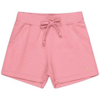 Shorts Kaiani em Moletom Touch com cadarço decorativo Menina - 105