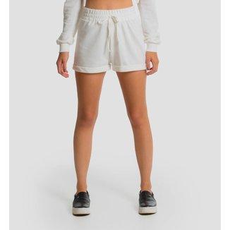 Shorts Moletinho Feminino - Off White