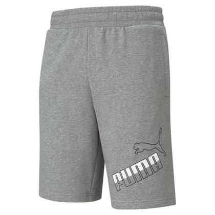Shorts Moletom Puma Big Logo Masculino - Cinza