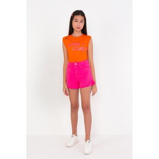 Shorts Mom Infantil Dimy Candy