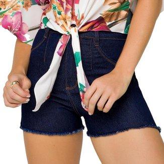 Shorts Onça Preta Amaciado Jeans