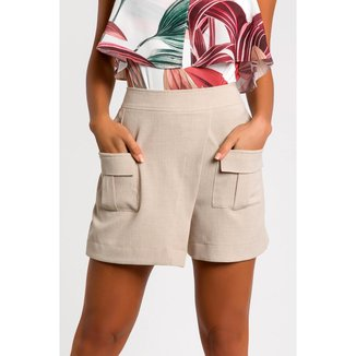 Shorts Saia com Bolsos Feminino