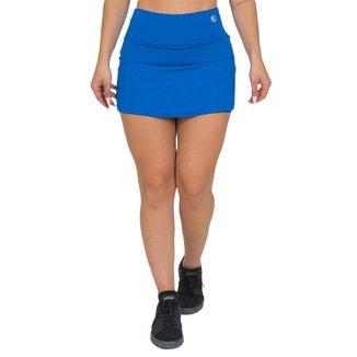 Shorts Saia Feminino Fitness Azul