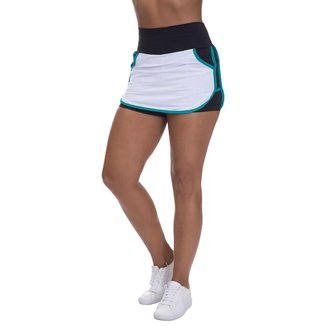 Shorts Saia Mis Blessed com Dry Fit Branco