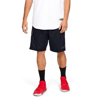 Shorts Under Armour De Basquete Sc30 Core Logo Masculino