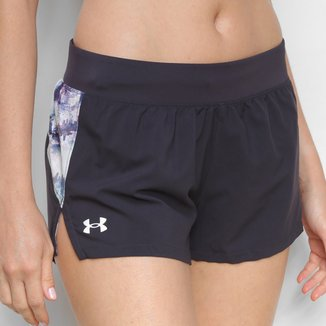 Shorts Under Armour Launch 3'' Print Feminino