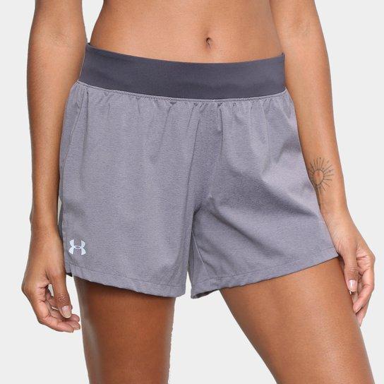 Shorts Under Armour Launch Sw 2 Em 1 Feminino - Roxo