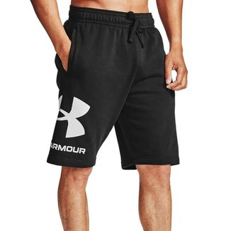 Shorts Under Armour Rival Fleece Preto Masculino