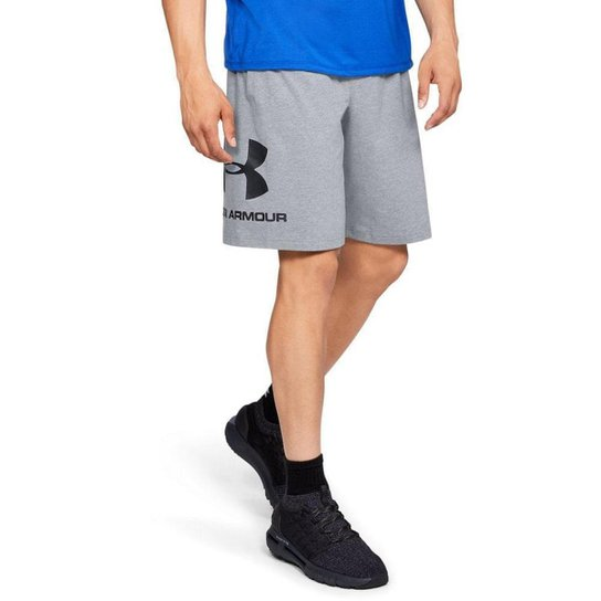 Shorts Under Armour Sportstyle Cotton Graphic Masculino - Cinza