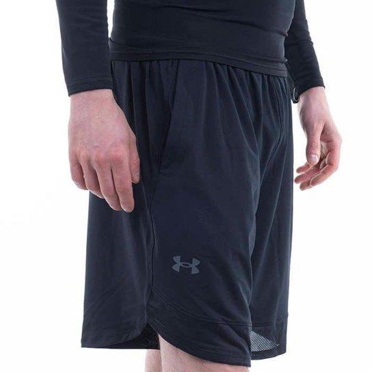 Shorts Under Armour Trainning Strech 1356858 Masculino - Preto - Preto