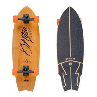Simulador Surf Longboard NitroSK8 Carlos Burle Bambu 31x10'