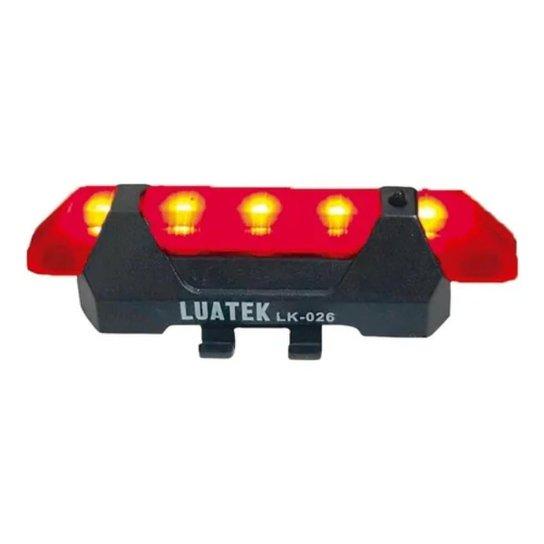 Sinalizador Lanterna Traseira Ciclismo Usb Rapido Luatek - Vermelho