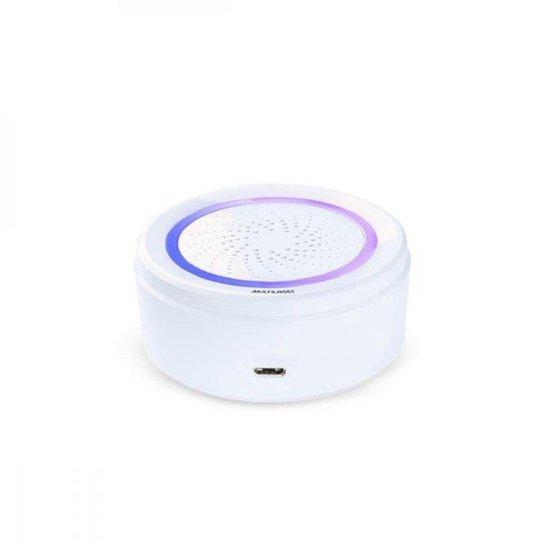 Sirene de Alarme Inteligente Wi-Fi - Multilaser Liv - SE232 - Branco