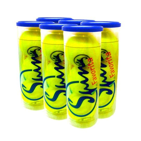 SixPack de Bola de Tênis Spin Favorita All Court Embalagem com 6 Tubos SPIN - Única